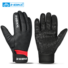 INBIKE Bike Gloves Winter Cycling Gloves Windproof Warm Outdoor Sports Hiking MTB Bicycle Gloves For Men Women Full Finger Glove