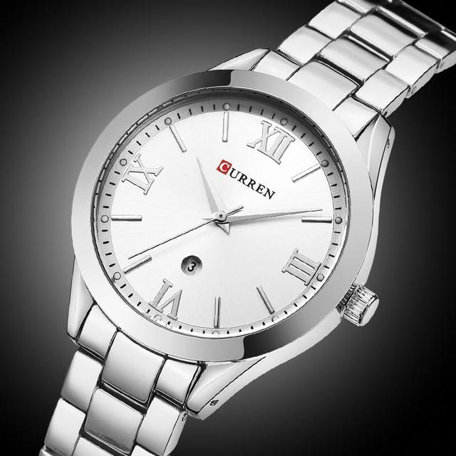 CURREN Women´s Top Brand Luxury Casual Rose Gold Steel Classic Dial Ultra-Thin Quartz Watches 1