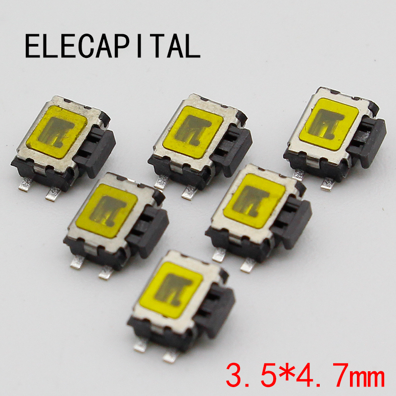 10pcs Micro Switch smd 4pin New Switch Button Key for Mobile Phone 5 pcs micro switch d2fc f 7n 10m for mouse replacement substitute tested