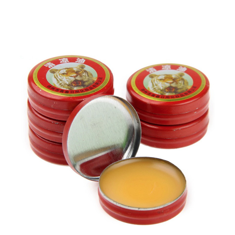 New Hot Sale Refreshing Brain Tiger Balm Drive Out Mosquito Eliminate Bad Smell Treat Headache Chinese God Medicine image