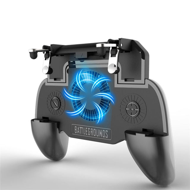 PUBG Mobile gaming controller cooler fan with power bank L1R1 fire button for iphone X 7 Mobile joystick game controller holder