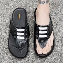 Slippers Man Shoes Flip-Flops men Black Outdoor Beach Casual Summer Homme Flat Claquette