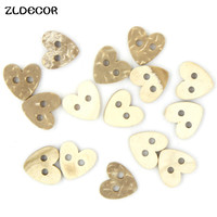 ZLDECOR 10pcs Wooden Heart Buttons for Rustic Wedding Party Festival Event Table Decorations Wedding Confetti