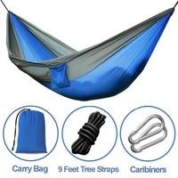 Shopify Hot Sale Outdoor Double Hammock Portable Nylon Parachute Hammock Camping Hiking Hanging Sleeping Bed Travel