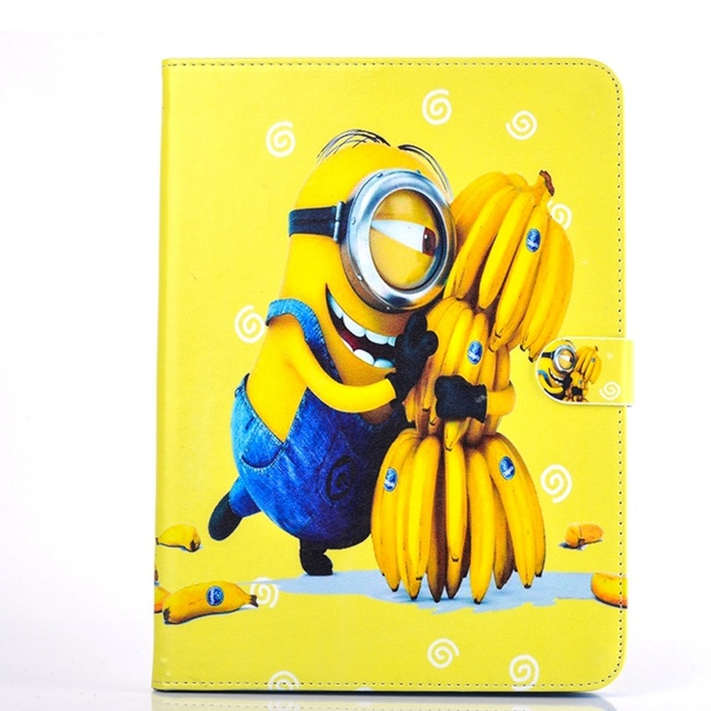 MINIONS Flip Magnetic Snap Tablet PU Leather Cover Shell Coque for Galaxy Tab4 10.1 / T530 / T531 / T535