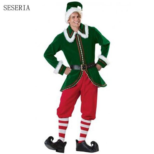 seseria mens christmas santa claus costumes for men adult santa claus costume - Christmas Movie Costumes