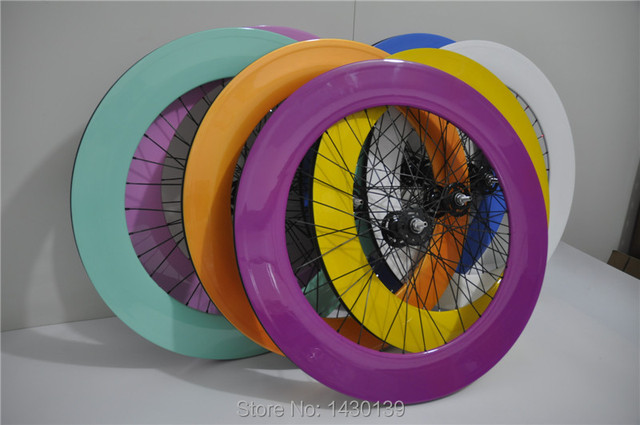 1pair New colors 700C 88mm clincher rim Track Racing/ Fixed Gear bicycle full carbon bike wheelsets 20.5/23/25mm width Free ship