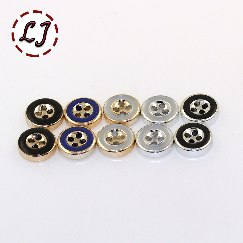 free shipping 30PCS/LOT plating buttons 4-Holes round Button resin button plastic cloth buttons sewing accessory scrapbooking