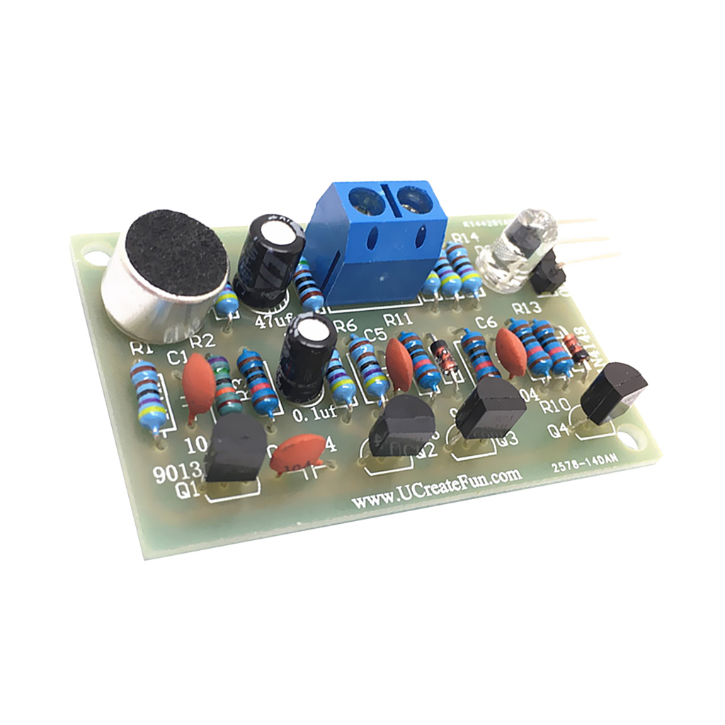 DIY Electronic Kit - Green Sound Activated Hand Clap Latch Switch LED Suite
