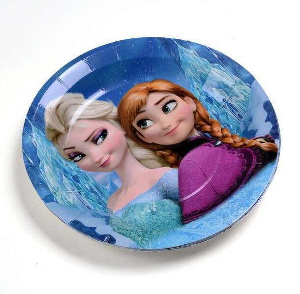 US $26 66 15% OFF|60pcs 3D snow queen Elsa Paper Plate,Food Standard 7
