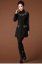 women jacket women winter coat New winter woolen coat and long sections Slim plate tweed coat free shipping