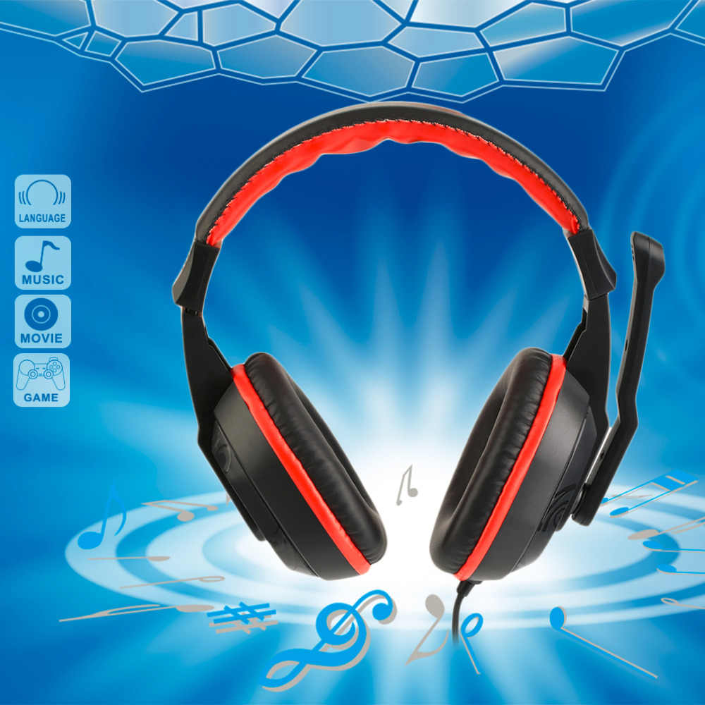 Gaming Headphones 3.5mm Adjustable Stereo Type Noise-canceling Computer Headset With Microphones For PC Gamer