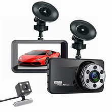 Car DVR Cameras Dash Cam Video Recorder Dual Lens HD 1080P 3.0 Inch 170 Degree Wide Angle Night Vision Vehicle Driving Recorder