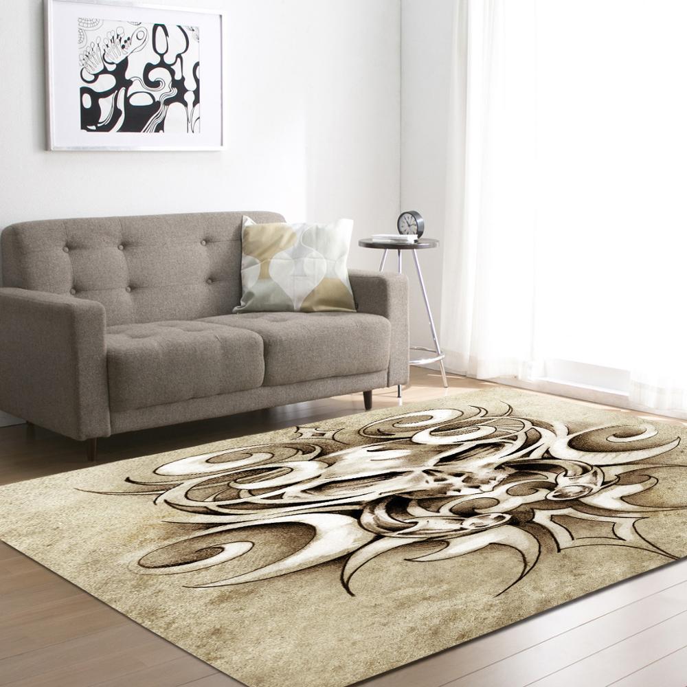 2017 Creative Skull Delicate Europe Soft Carpet For Living Room ...