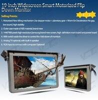 19 polegadas teto antomático flip down display lcd completo motorizado telhado montado bus monitor com hdmi/vga/usb slot/sd DC12-24V