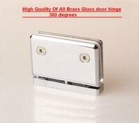 All brass solid glass clamp,connector,shower room folder,glass door hinge(DG5005)