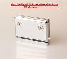 Все латунь твердое стекло зажим, разъем, папка душевая комната, стеклянная дверь шарнир (DG5005)