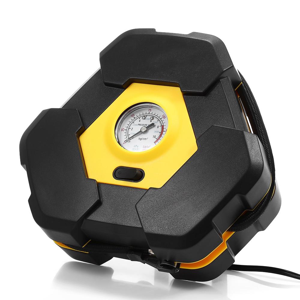 Car Universal Portable Digital Intelligent Air Pump 4led Lamp Column Air Pump 120w High Power Wireless Charging Tire Compressor Inflatable Pump Automobiles & Motorcycles