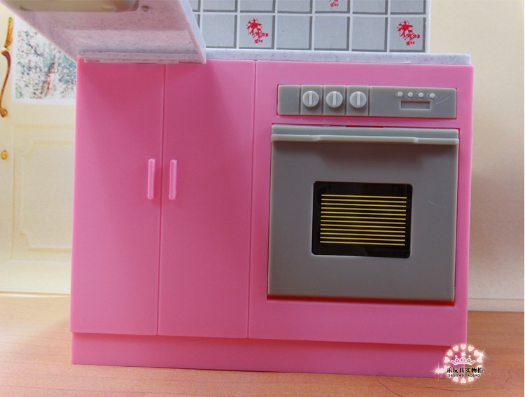 new dream kitchen furniture set for barbie doll toys for girls doll accessories for monster