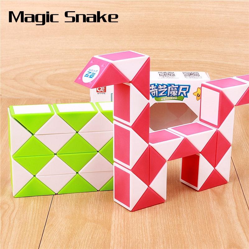 QIYI Magic Snake Speed Cube 24 36 48 Segments Puzzle Cubes Educational Magic Ruler Toys For Children