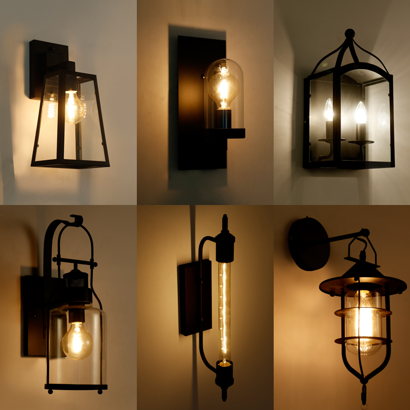 Fashion Wroguht Iron Water Pipe Wall Lamp Vintage Aisle Lights Loft Iron Wall Lamps Edison Incandescent Coffee Light Bulb free shipping water pipe wall lamp vintage aisle lamp loft iron wall lamp perfectly matching e27 edison incandescent light bulb
