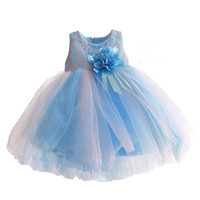 Baby Girl Dress Peony Lace Flower Sleeveless Wedding Party Clothes For Girl Toddler Infant Summer Dresses