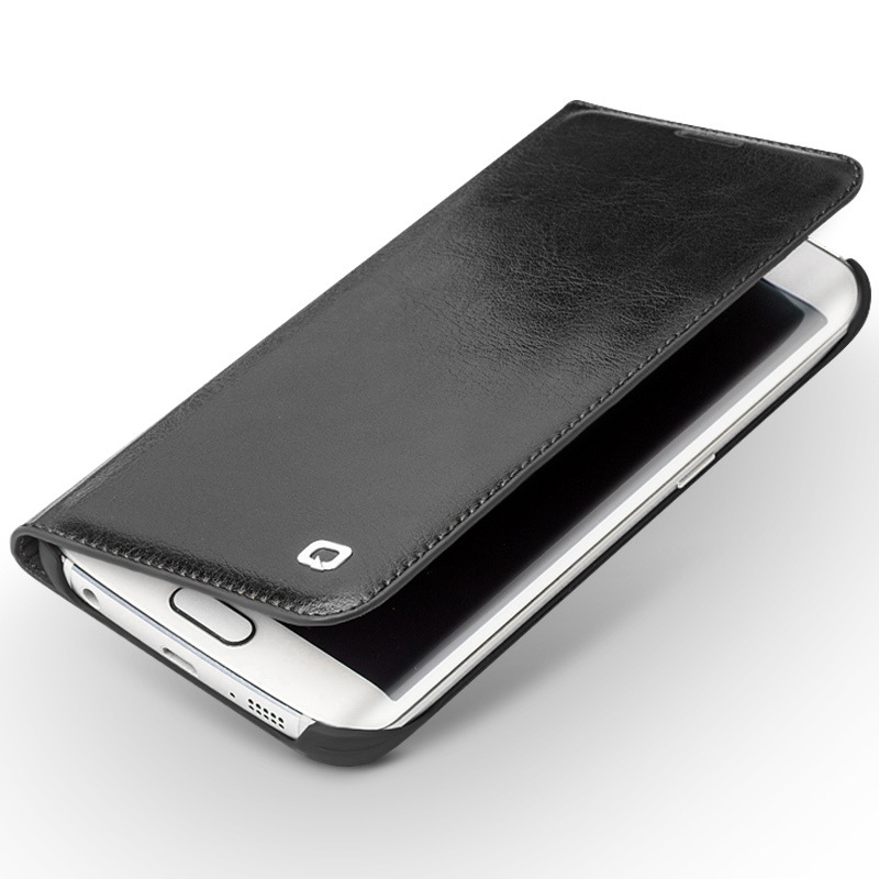 imágenes para Qialino Case Para Samsung Galaxy S6 edge y S6 edge + Del Tirón Del Cuero Genuino billetera Cubierta Ultra Delgada para La Galaxia S6 edge plus 5.1 pulgadas
