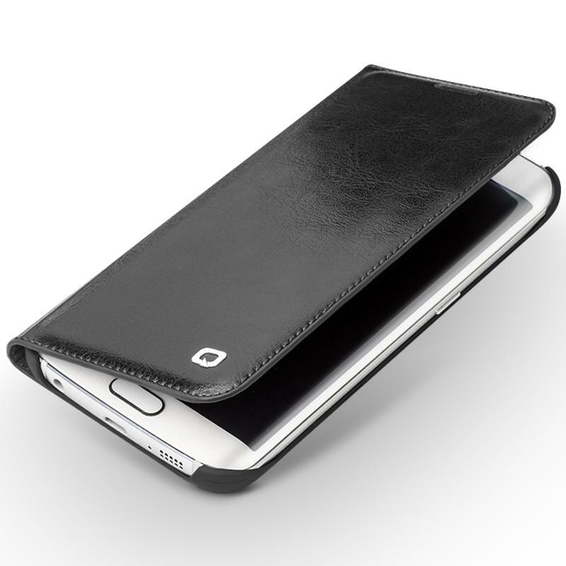 bilder für Qialino Fall Für Samsung Galaxy S6 rand & S6 rand + Echtes Leder Flip brieftasche Ultradünne Abdeckung für Galaxy S6 rand plus 5,1 zoll