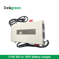 3000W lithium Lifepo4 36V50A 48V40A 72V20A 98V22A 120V16A 144V14A 192V 12A Battery charger 3KW