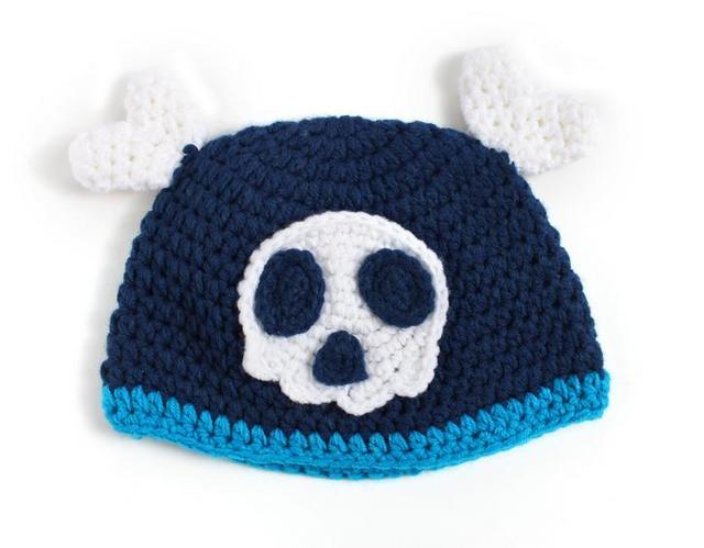 9458602e98d Creative personality baby boys girls skeleton skull handmade knit hat  crochet boutique photography props 1 pcs