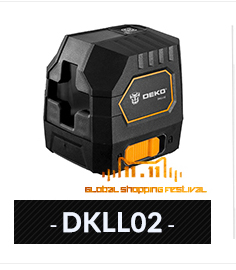 DEKO лазерный нивелир 5 линий 6 точек 360 вертикальное и горизонтальное поворотный Крест лазерной линии выравнивания w/Oxfrod чехол может использовать приемник