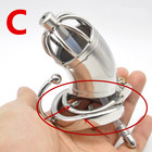 Stainless Steel Chastity Cage with Urethral Sound Catheter Anti-off Spike Ring Male Chastity Devices Penis Lock for Men G225