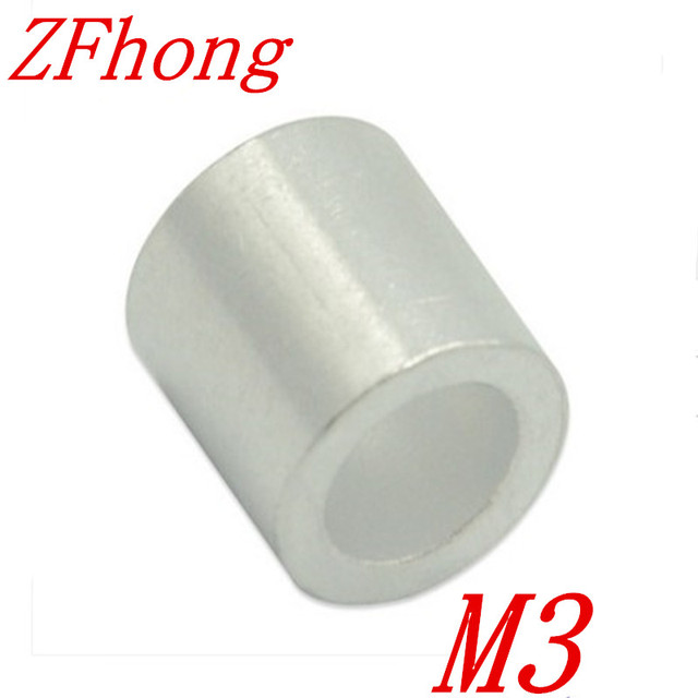 500PCS M3 3mm Aluminum Wire Rope Cable Crimping Button Stop Sleeves ...