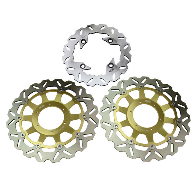 Arashi Front Rear Brake Disc Rotors Set For Honda 2000 2001 CBR929RR & 2002 2003 CBR954RR, Gold