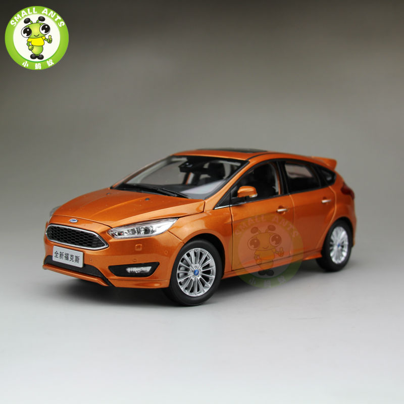 1:18 Ford New Focus 2015 Diecast car model for collection gifts hobby Orange 2013 1 18 ford mondeo fusion diecast model car alloy model car hobby stores cars for sale aluminum die casting products