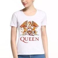 2017 Fashion Rock Band Queen Women T Shirt Summer Funny Hipster Female T Shirt Harajuku Short