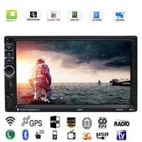 Vodool 7in 2 DIN Сенсорный экран Автомобильный мультимедийный плеер Android 7,1 Bluetooth автомобиля gps навигатор с Камера 1 г/16 г авто MP5 плеер