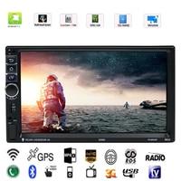 Vodool 7in 2 DIN Touch Screen Car Multimedia Player Android 7.1 Bluetooth Navigatore GPS Per Auto Con La Macchina Fotografica 1G/16G Auto MP5 lettore