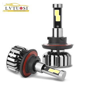 LVTUSI H7 H4 LED Car Headlight H1 H3 H8 H9 H11 9003 9005 9007 Automobiles Headlamp Bulb 80W 6000K 200m DE