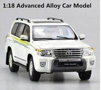 Оригинальный Высокая моделирования Toyota LC200 Land Cruiser, 1: 18 Расширенный сплава модели автомобиля, высокого качества Коллекционная модель, беспл