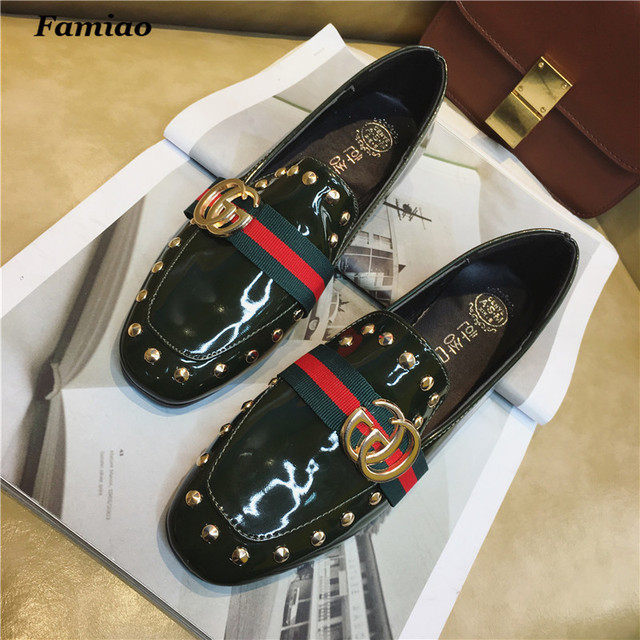 women flats spring autumn pu zapatos mujer  new square toe fashion  superstar shoes Waterproof comfortable chaussure femme