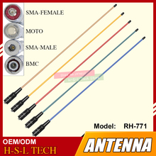 SMA/BNC Soft Flexible Walkie Talkie Antenna 144/430Mhz Dual Band VHF/UHF Colors High Gain Two Way Radio Antenna For Weierwe HYT