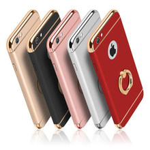 luxury Ultra Thin Shockproof Armor plastic mobile Phone cases,cover,coque,case for iPhone 5s 6 6s 8 7 Plus XR XS max with stand(China)