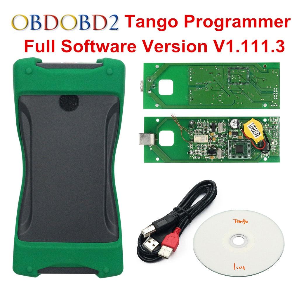 DHL Free OEM TANGO Auto Key Programmer Full Software V1 111 3 OBDII Key Remote Control
