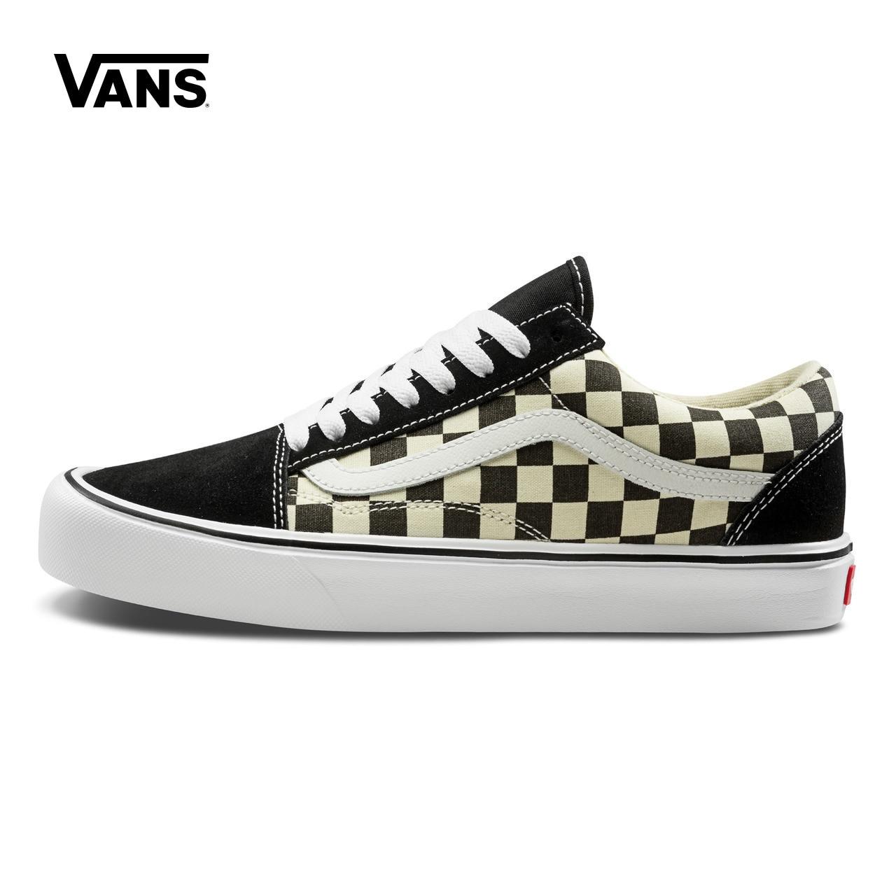 Original New Arrival Vans Men s   Women s Classic Old Skool Lite Skateboarding  Shoes Sport Outdoor Sneakers 3199fee95