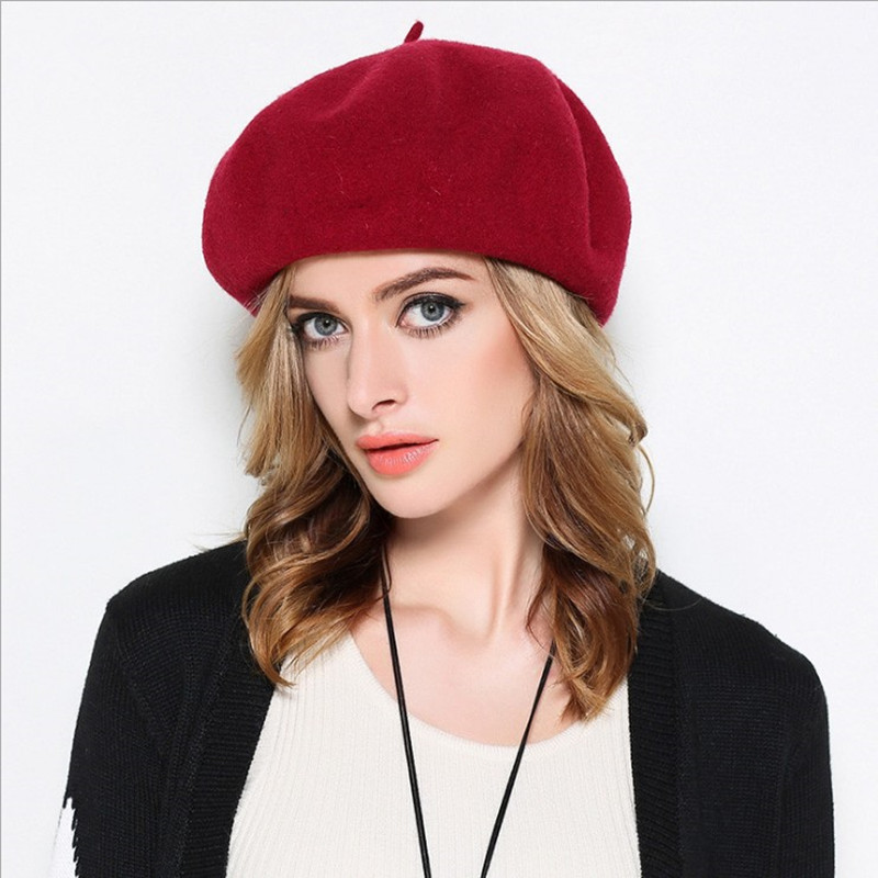 43f99d8a7e22d Wholesale New Wool Cashmere Winter Hat Womens Warm Brand Casual Women'S  Knitted Hats For Girls Berets