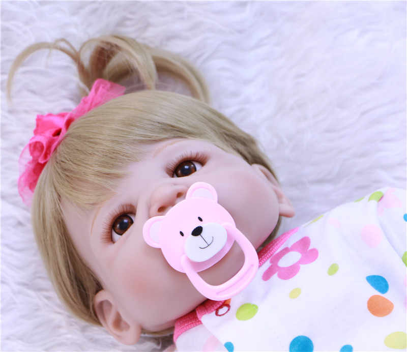 """Полностью силиконовые куклы reborn baby для продажи 22 """"светлые волосы девушка куклы для младенцев игрушки bonucas возрождённая"""