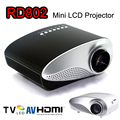 RD802 Mini Portátil LED Proyector Beamer Cine VGA USB TV HDMI AV LCD Proyector De Videojuegos TV Home Cine VS RD805