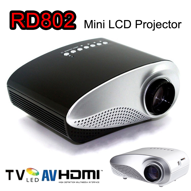 Mini dlp mobile cinema home theater led portable projector for Mini portable pocket projector