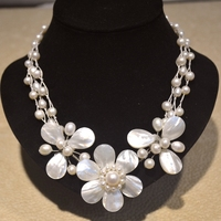 2017 Real Promotion Necklaces & Pendants Maxi Necklace Collares Freshwater Sea Shell Flower Necklace Wrap Choker For Wedding